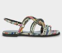 'Snake Swirl' Leather 'Carlin' Sandals
