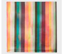 Large 'Artist Stripe' Silk Pocket Square