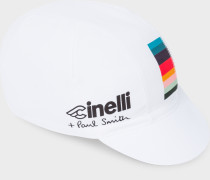 + Cinelli White 'Artist Stripe' Detail Cycling Cap