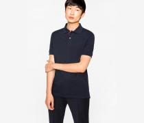 Slim-Fit Navy Cotton-Piqué Polo Shirt With 'Artist Stripe' Placket