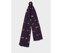 Navy 'Kyoto Floral' Print Scarf