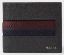 Black 'City Webbing' Leather Billfold Wallet