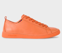 Orange Calf Leather 'Miyata' Trainers