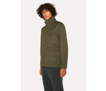 Khaki Cotton-Linen Field Jacket