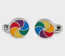 Multi-Colour Whirligig Cufflinks
