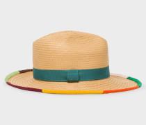 'Artist Stripe' Border Plaited Hat