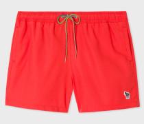 Red Zebra Logo Swim Shorts