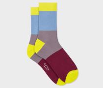 Grey 'Ice Lolly' Stripe Socks