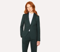 A Suit To Travel In -  Dark Green One-Button Wool Blazer