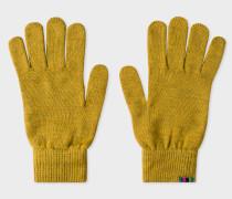 Mustard Yellow Lambswool Gloves