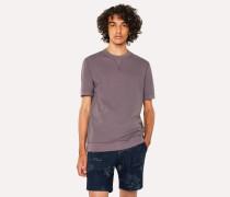 Washed Purple Short-Sleeve Red Ear Sweatshirt