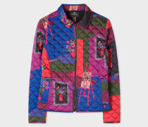 'Still Life Bouquet' Print Quilted Jacket