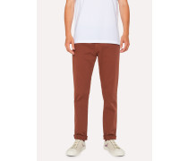 Tapered-Fit Rust Garment-Dye Jeans