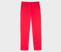 Red Stretch-Cotton Chinos