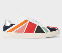Multi-Colour 'Union Jack' Suede 'Levon' Trainers