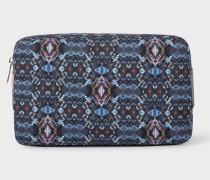 'Mini Kaleidoscope' Print Canvas Wash Bag