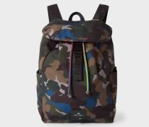 Camouflage Flap Canvas Backpack