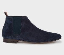 Dark Navy Suede Leather 'Marlowe' Chelsea Boots