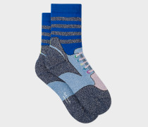 Navy 'Trainer' Pattern Socks