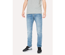 Slim-Standard 12.5oz 'Rigid Western Twill' Light-Wash Denim Jeans