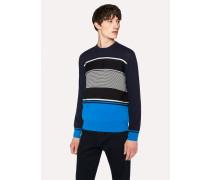 Navy Textured Stripe Sweater