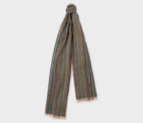 Signature Stripe Mercerised Wool Scarf