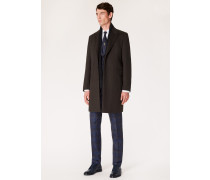 Brown Wool And Cashmere-Blend Peak-Lapel Epsom Coat