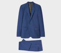 The Soho - Tailored-Fit Indigo Wool-Mohair Suit 'A Suit To Travel In'