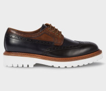 Black And Tan Leather 'Vegas' Brogues