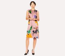 Pink 'Rose' Print Dress