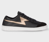Black 'Ziggy' Calf Leather Trainers