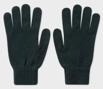 Dark Green Cashmere-Blend Gloves