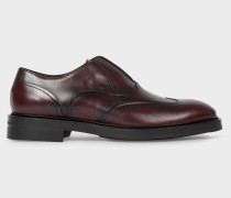 Bordeaux 'Hicks' Laceless Leather Brogues