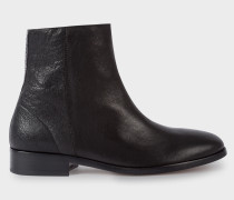 Black Leather 'Brooklyn' Boots With Snake-Effect