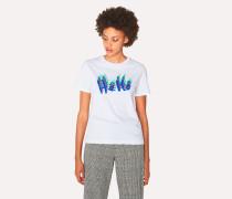 White 'Hello' Print T-Shirt