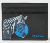 Black 'Zebra' Print Slip Card Holder