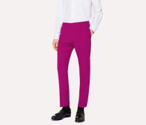 Slim-Fit Purple Wool Trousers