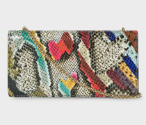 'Snake Swirl' Leather Clutch Bag