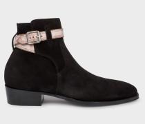 Black Suede 'Denza' Boots