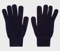 Navy Cashmere-Blend Gloves