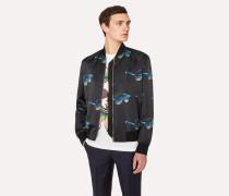 'Sunglasses' Print Bomber Jacket