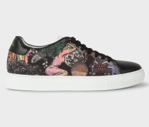 'Psychedelic Sun' Black 'Basso' Trainers