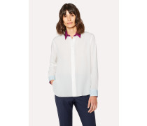 Cream Silk Shirt With Contrasts