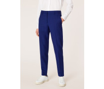 A Suit To Travel In -  Classic-Fit Blue Wool Trousers