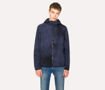 Navy Hooded Packaway Jacket