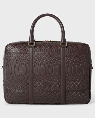 No.9 - Brown Leather Slim Business Folio