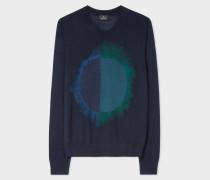 Navy 'Paint Spot' Merino Wool-Blend Sweater