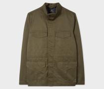 Khaki Cotton-Linen Field Jacket