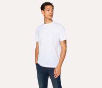 White Embroidered Zebra Organic-Cotton T-Shirt