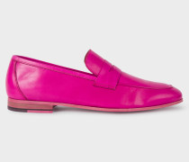 Fuchsia Leather 'Glynn' Penny Loafers